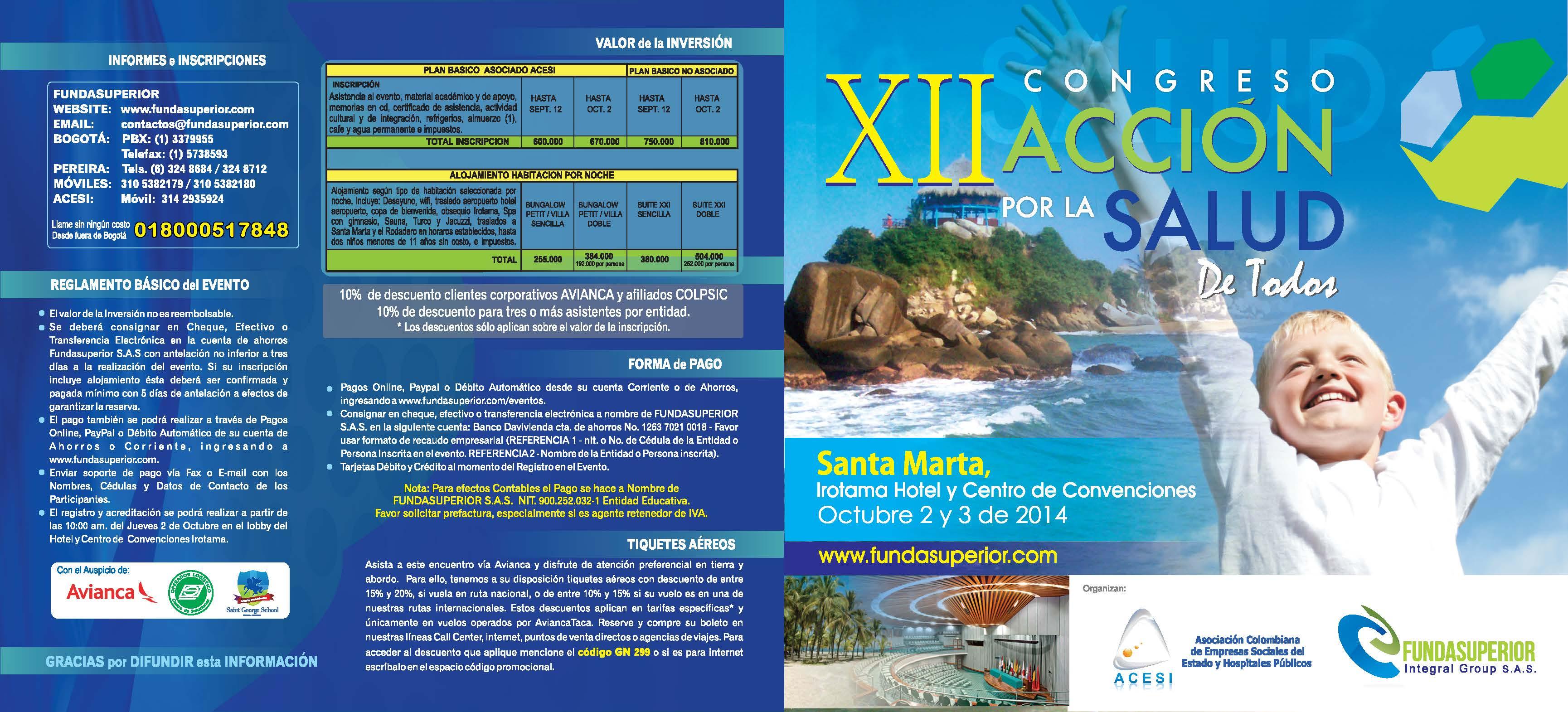 Santa Marta será la sede del Congreso Nacional de ACESI 2014