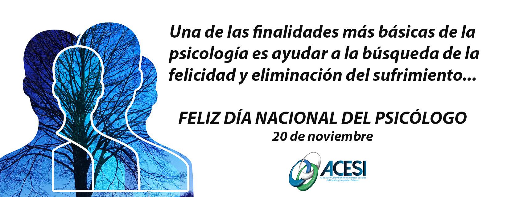 HOY… Día nacional del psicólogo!
